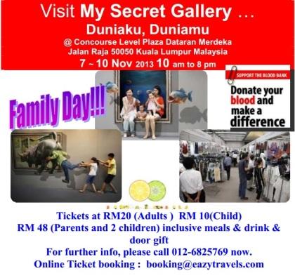 Largest underground fair in Kuala Lumpur 3D art walls